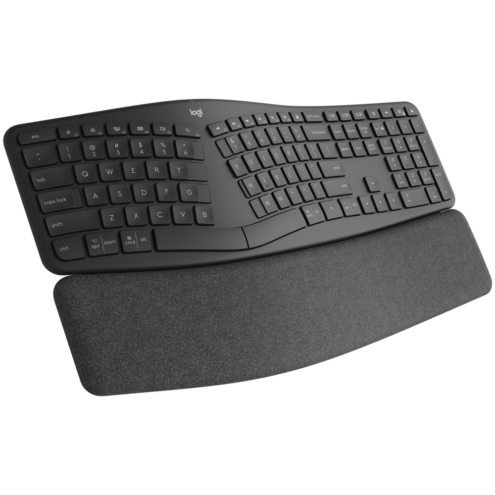 A large main feature product image of Logitech K860 ERGO Wireless Ergonomic Keyboard