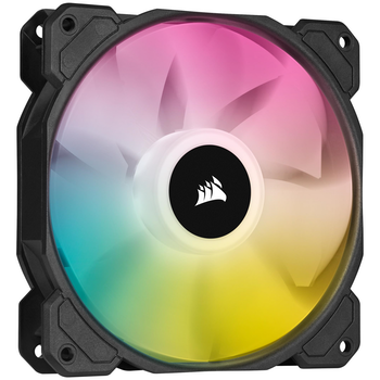 Product image of Corsair SP120 RGB Elite 120mm PWM Fan Black - Click for product page of Corsair SP120 RGB Elite 120mm PWM Fan Black