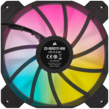 Product image of Corsair SP140 RGB Elite Performance Dual Fan Kit Black - Click for product page of Corsair SP140 RGB Elite Performance Dual Fan Kit Black