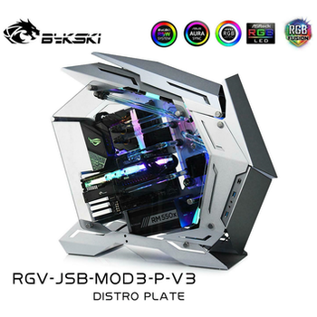 Product image of Bykski RGV-JSB-MOD3-P-V3 Distro Plate for Jonsbo MOD3 Chassis - Click for product page of Bykski RGV-JSB-MOD3-P-V3 Distro Plate for Jonsbo MOD3 Chassis