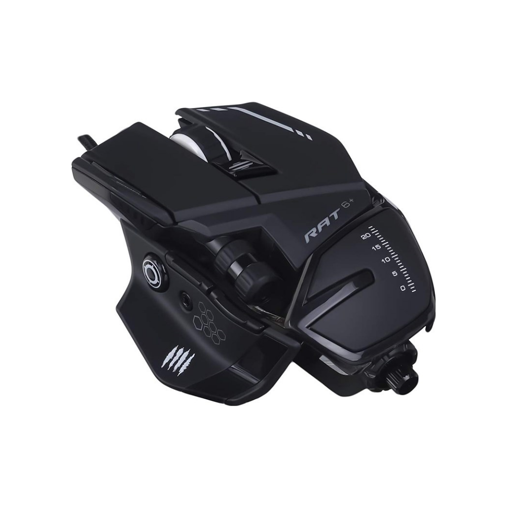 A large main feature product image of Mad Catz R.A.T. 6+ Gaming Mouse Black