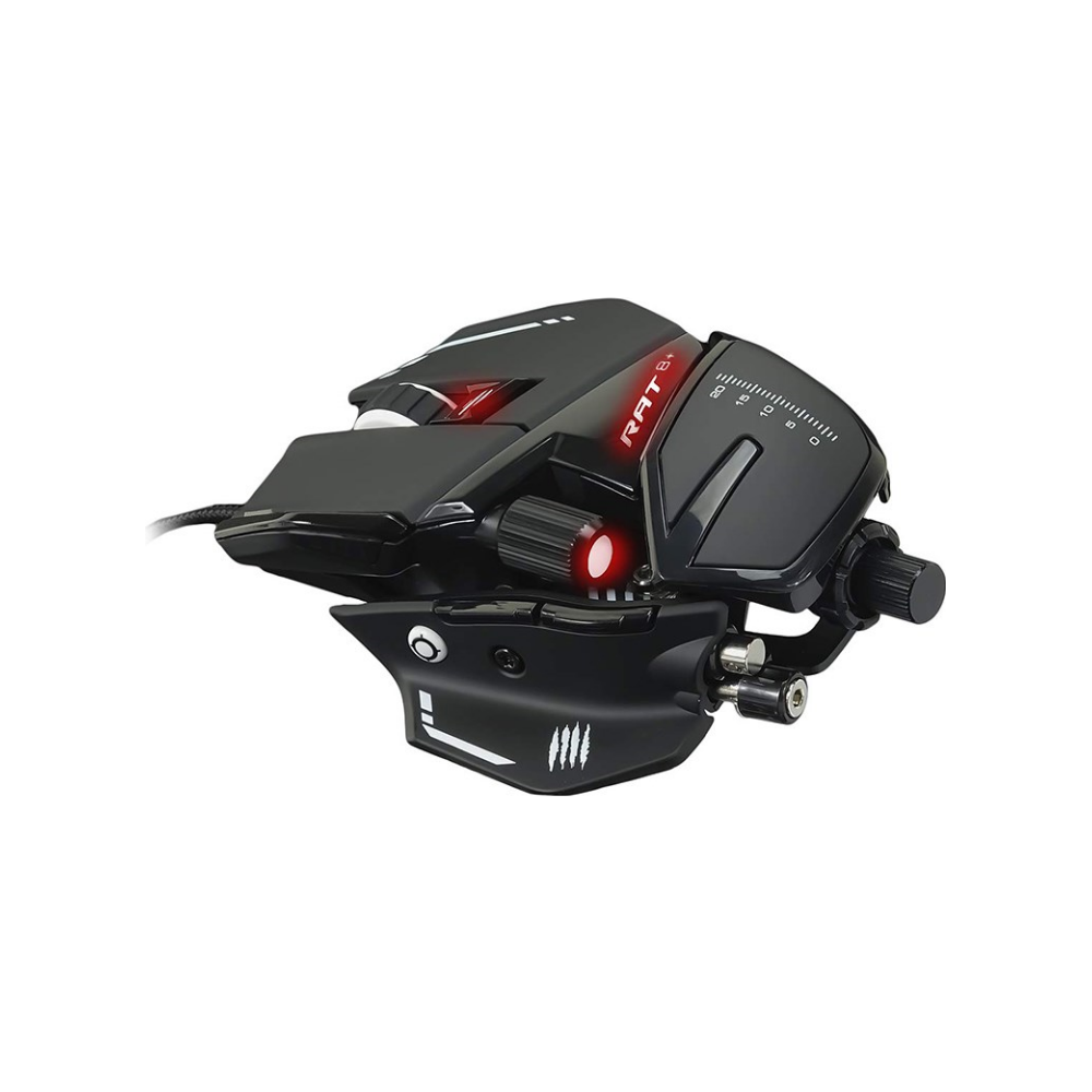A large main feature product image of Mad Catz R.A.T. 8+ Gaming Mouse Black