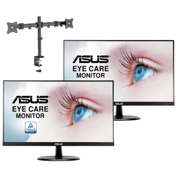 """Product image of ASUS VL249HE 24"""" Dual Monitor Upgrade Bundle - Click for product page of ASUS VL249HE 24"""" Dual Monitor Upgrade Bundle"""