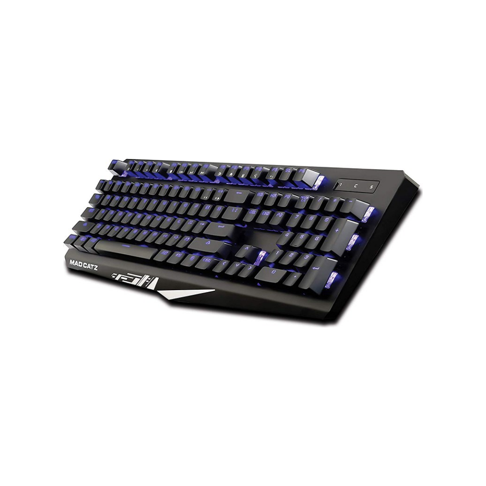 A large main feature product image of Mad Catz S.T.R.I.K.E. 4 Gaming Keyboard Black