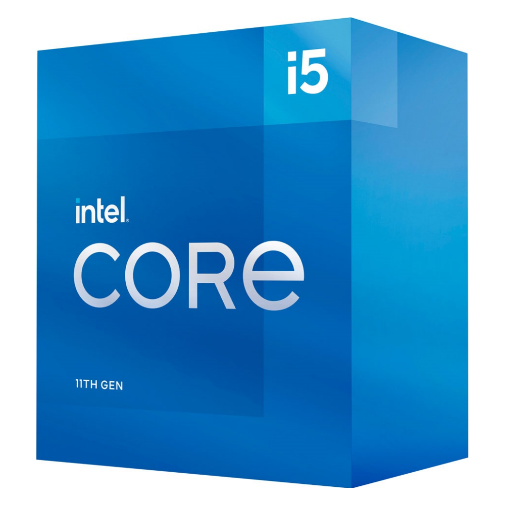 A large main feature product image of Intel Core i5 11400 Rocket Lake 6 Core 12 Thread Up To 4.4Ghz LGA1200 - Retail Box