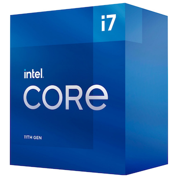 Product image of Intel Core i7 11700 Rocket Lake 8 Core 16 Thread Up To 4.9Ghz LGA1200 - Retail Box - Click for product page of Intel Core i7 11700 Rocket Lake 8 Core 16 Thread Up To 4.9Ghz LGA1200 - Retail Box