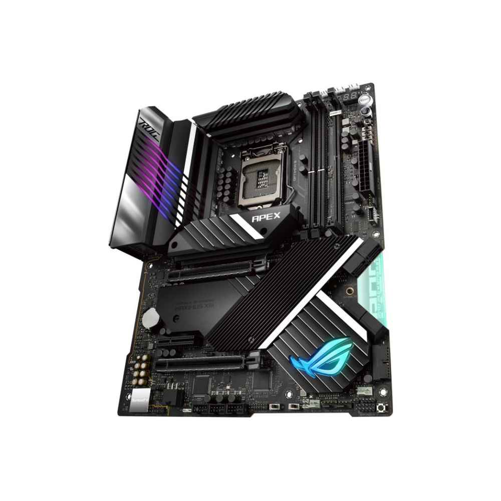 A large main feature product image of ASUS ROG MAXIMUS XIII APEX LGA1200 ATX Desktop Motherboard