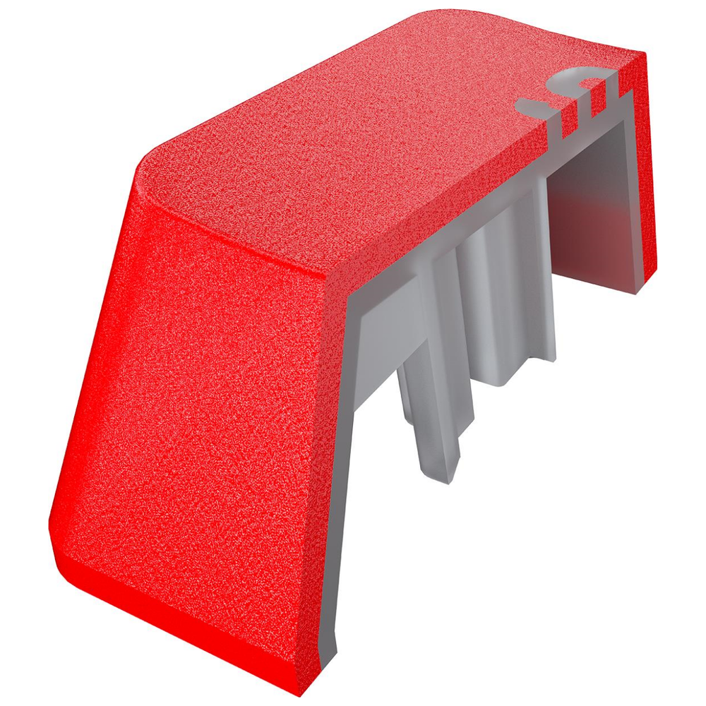 A large main feature product image of Corsair PBT Double-Shot Pro Keycaps - Origin Red