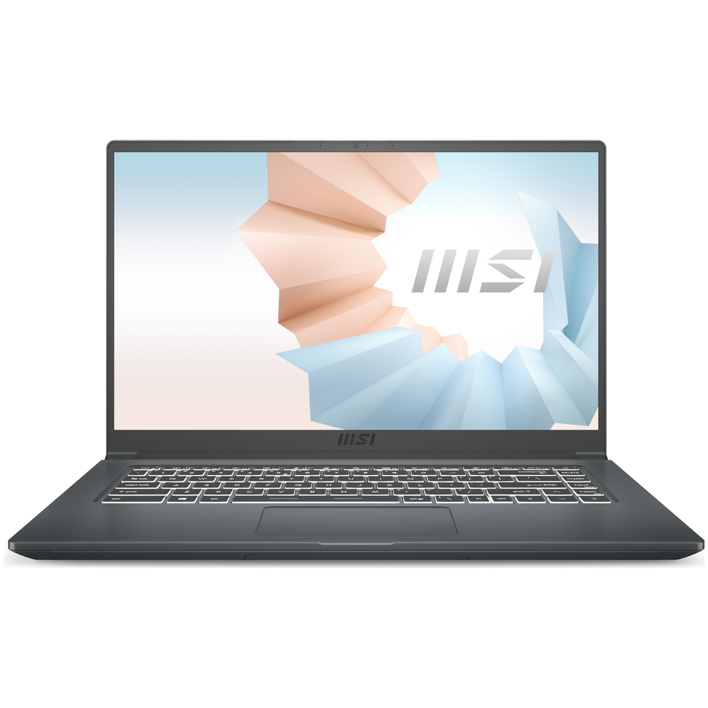 "A large main feature product image of MSI Modern 15 A11M 15.6"" i7 11th Gen Windows 10 Notebook"