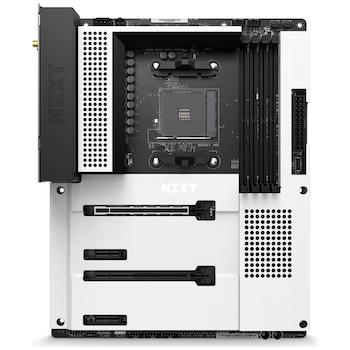 Product image of NZXT B550 N7 AM4 ATX Desktop Motherboard - White - Click for product page of NZXT B550 N7 AM4 ATX Desktop Motherboard - White