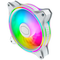 A small tile product image of Cooler Master MasterFan MF120 Halo White ARGB 120mm Fan - 3 Pack