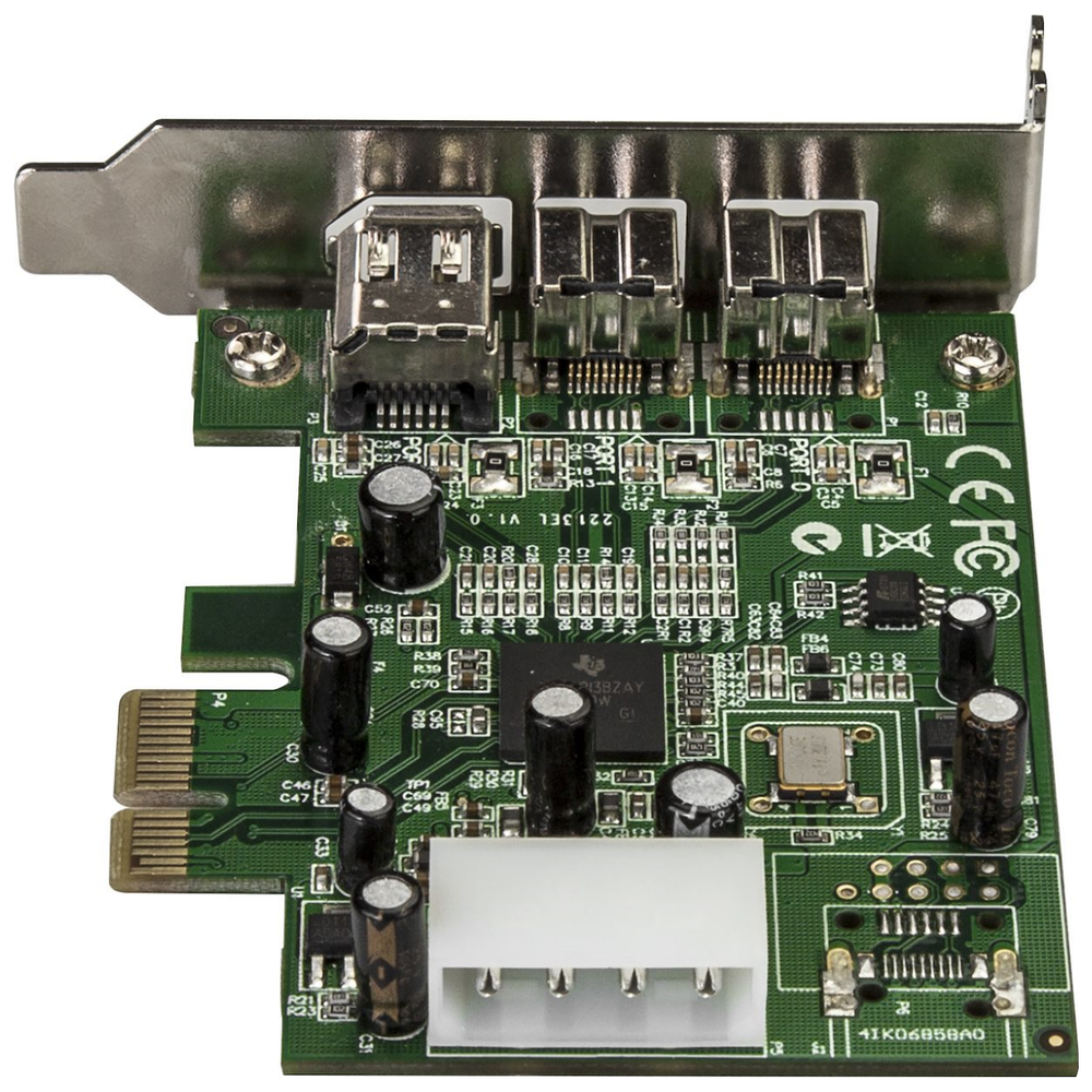 A large main feature product image of Startech 3 Port 2b 1a Low Profile 1394 PCI Express FireWire Card