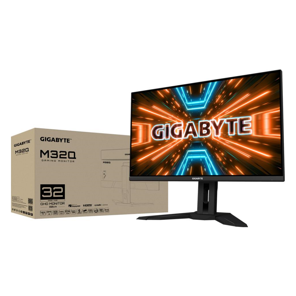 """A large main feature product image of Gigabyte M32Q 31.5"""" QHD 170Hz 0.8ms IPS Gaming Monitor"""