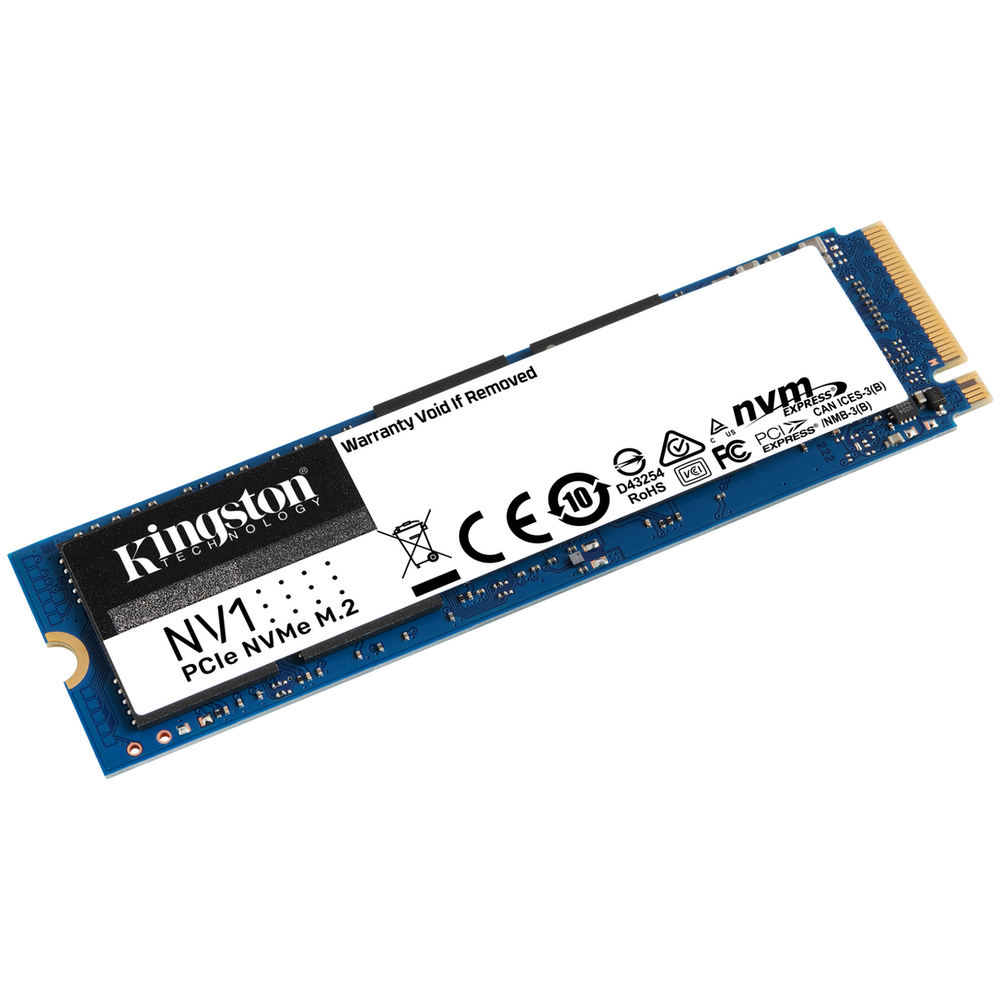 A large main feature product image of Kingston NV1 2TB NVMe M.2 SSD
