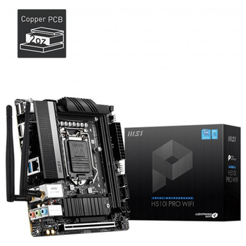 Product image of MSI H510I Pro WiFI LGA1200 mITX Desktop Motherboard - Click for product page of MSI H510I Pro WiFI LGA1200 mITX Desktop Motherboard