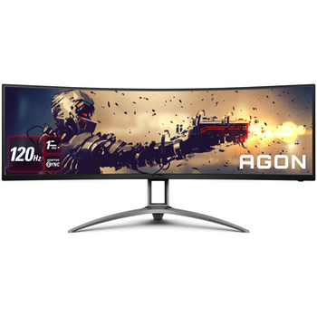 """Product image of AOC AGON AG493UCX 49"""" Curved DQHD Super Ultrawide Adaptive-Sync 120Hz 1MS HDR400 VA LED Gaming Monitor - Click for product page of AOC AGON AG493UCX 49"""" Curved DQHD Super Ultrawide Adaptive-Sync 120Hz 1MS HDR400 VA LED Gaming Monitor"""
