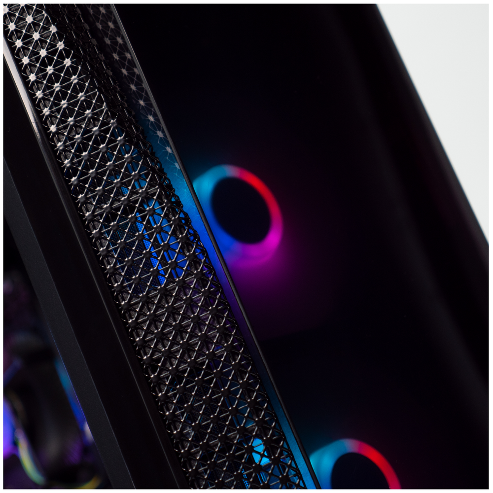 A large main feature product image of PLE Orbit Prebuilt Gaming PC