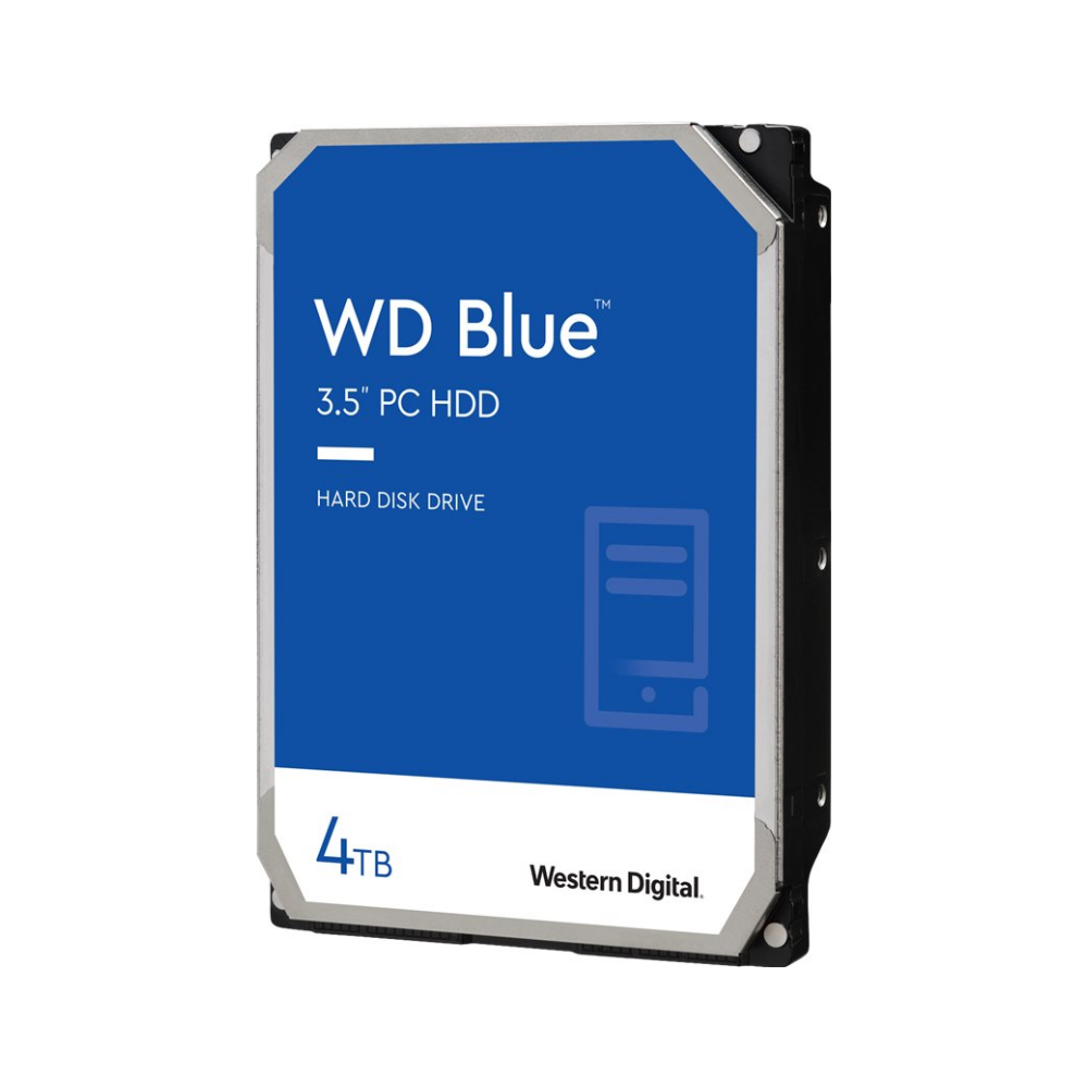 """A large main feature product image of WD Blue WD40EZAZ 3.5"""" 4TB 64MB 5400RPM Desktop HDD"""