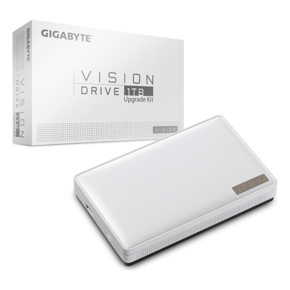 A large main feature product image of Gigabyte Vision Drive 1TB Upgrade Kit USB3.2 Gen2x2 Portable SSD