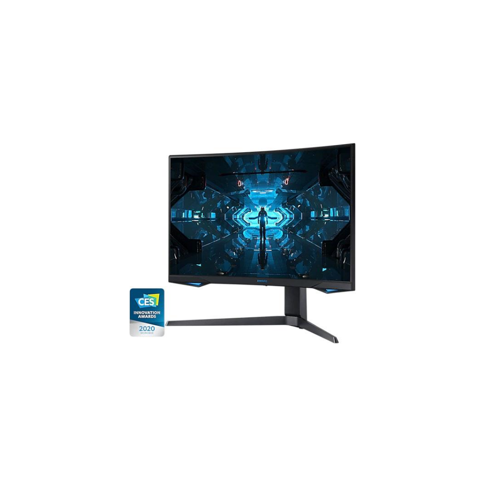"""A large main feature product image of Samsung Odyssey G7 27"""" Curved QHD G-SYNC-C 240Hz 1MS HDR600 VA QLED Gaming Monitor"""