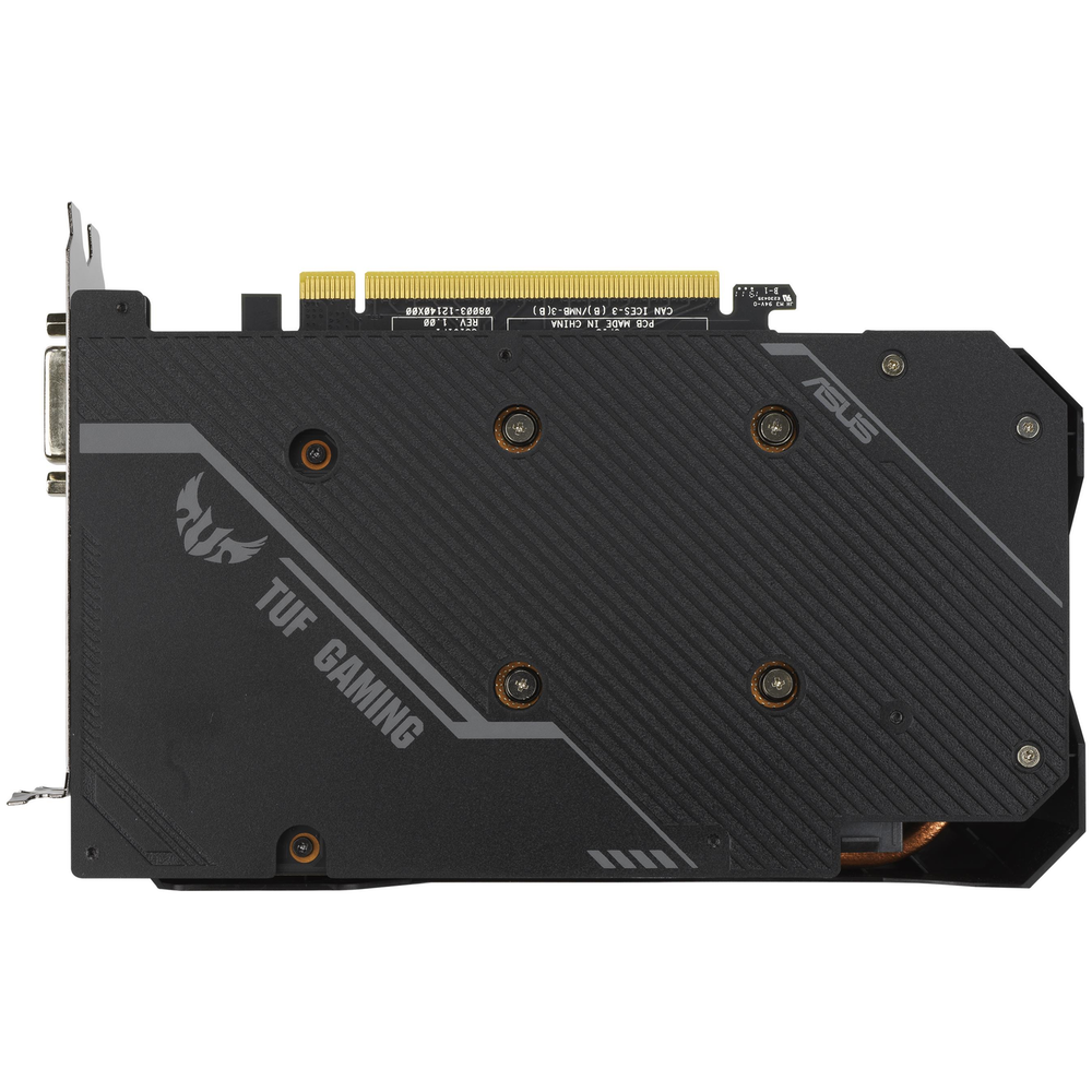 A large main feature product image of ASUS GeForce GTX 1660 Super TUF Gaming OC 6GB GDDR6