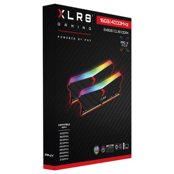 Product image of PNY XLR8 16GB (2X8GB) EPIC-X RGB Gaming DDR4 C18 4000Mhz - Black Edition - Click for product page of PNY XLR8 16GB (2X8GB) EPIC-X RGB Gaming DDR4 C18 4000Mhz - Black Edition