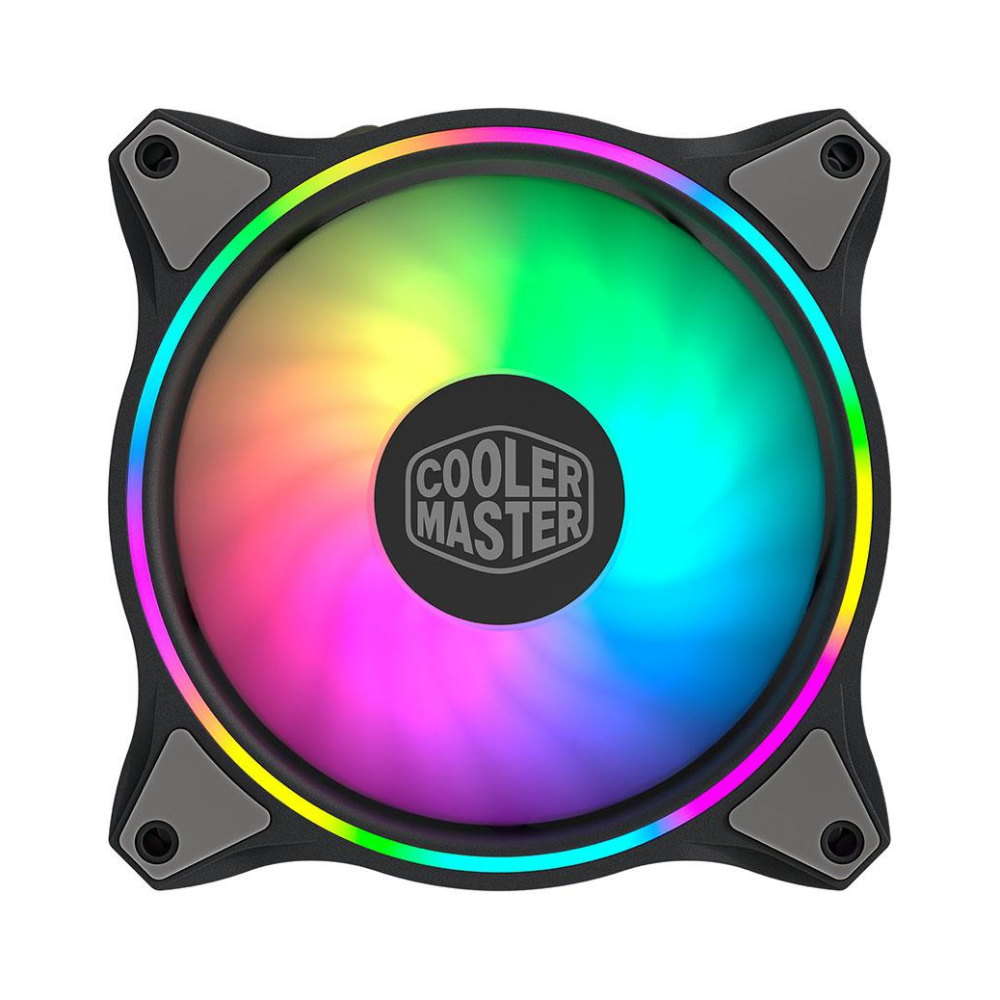 A large main feature product image of Cooler Master MasterFan MF140 Halo Dual Loop ARGB 140mm Cooling Fan