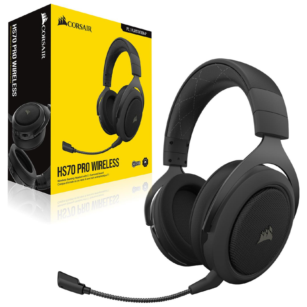 Buy Now | Corsair Gaming HS70 PRO Carbon Wireless Gaming Headset | PLE Computers