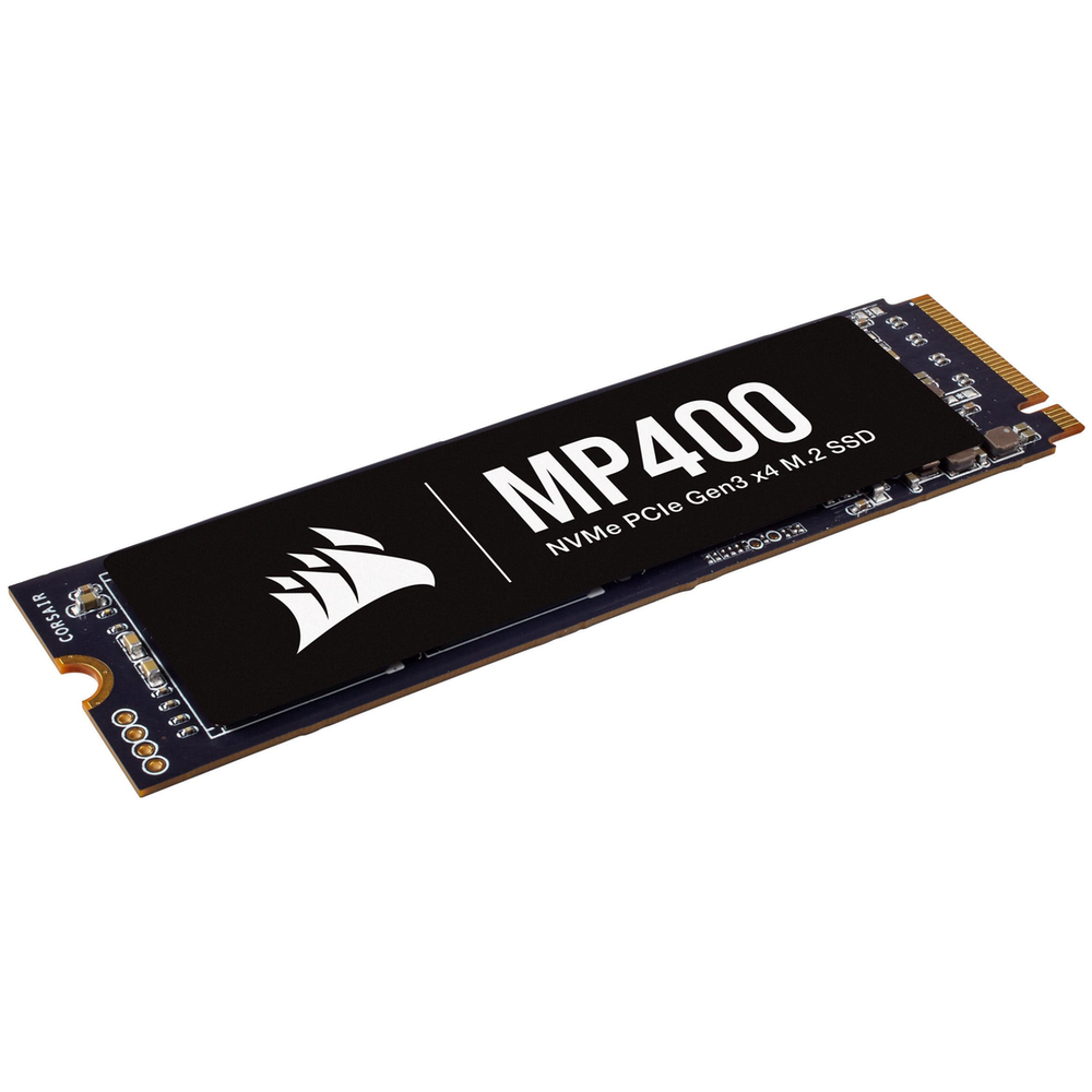A large main feature product image of Corsair MP400 1TB NVMe PCIe M.2 SSD QLC
