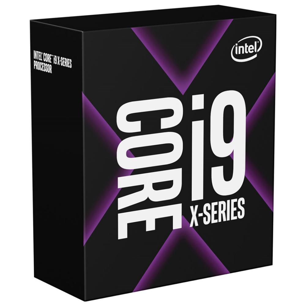 A large main feature product image of Intel Core i9 10900X Cascade Lake 10 Core 20 Thread Up To 4.5Ghz LGA2066 - No HSF Retail Box