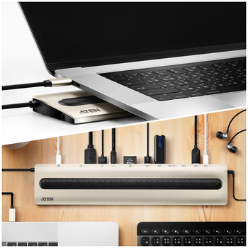 Product image of ATEN USB-C Multiport Dock with Power Pass-Through - Click for product page of ATEN USB-C Multiport Dock with Power Pass-Through
