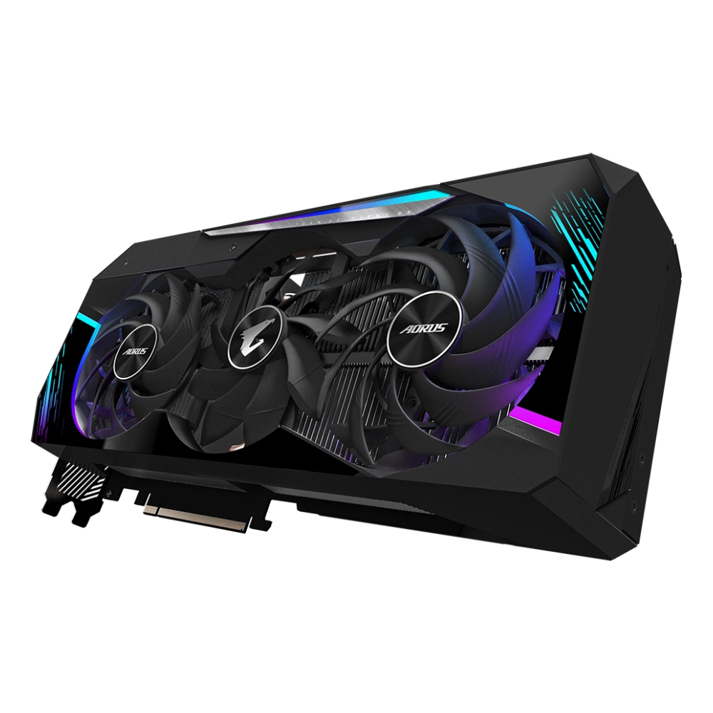 A large main feature product image of Gigabyte GeForce RTX 3080 Ti Aorus Master 12GB