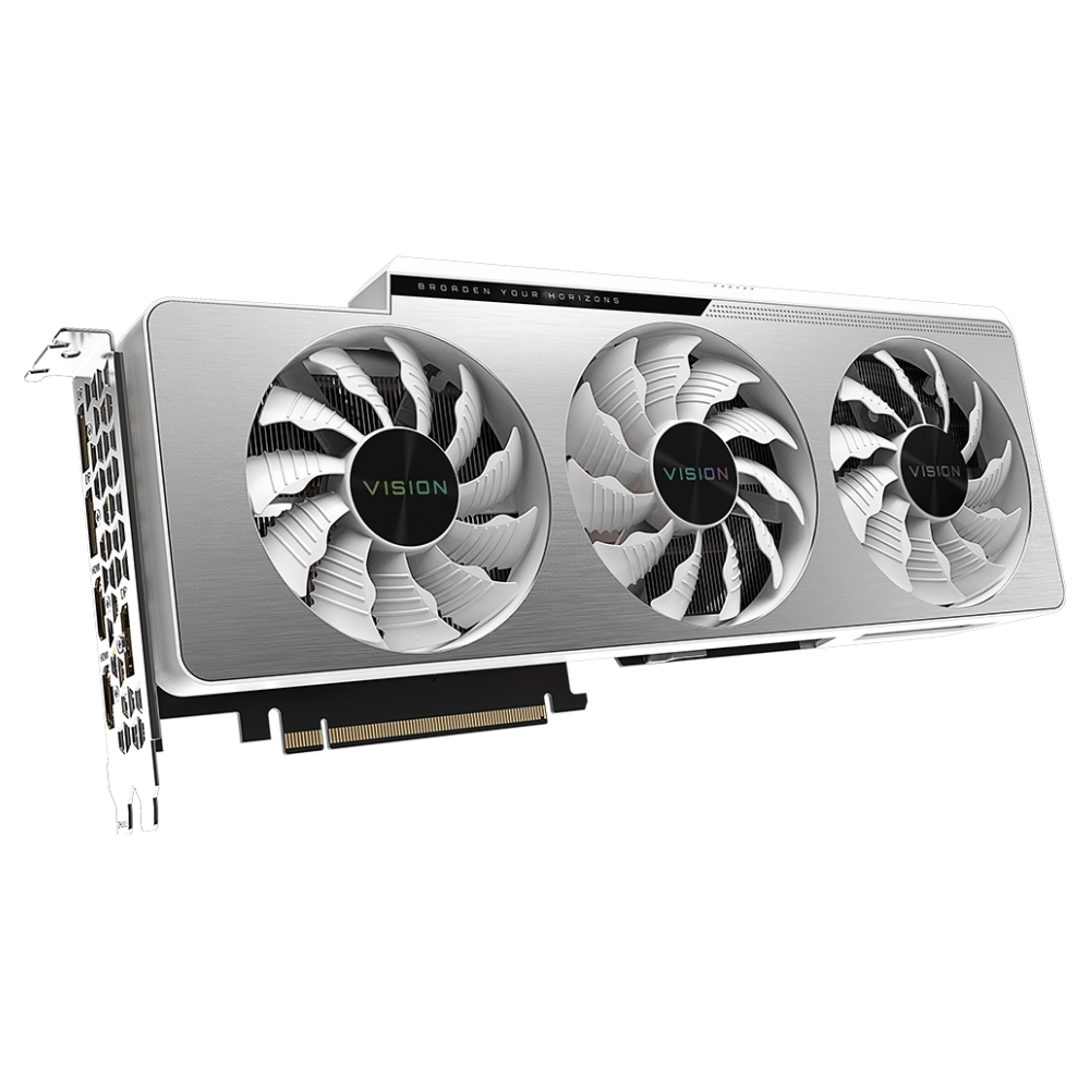 A large main feature product image of Gigabyte GeForce RTX 3080 Ti Vision OC 12GB GDDR6X