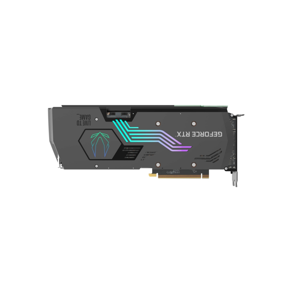 A large main feature product image of ZOTAC GAMING GeForce RTX 3080 Ti AMP Holo 12GB GDDR6X