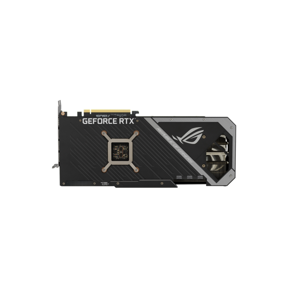 A large main feature product image of Asus GeForce RTX 3070 Ti ROG Strix OC 8GB GDDR6X