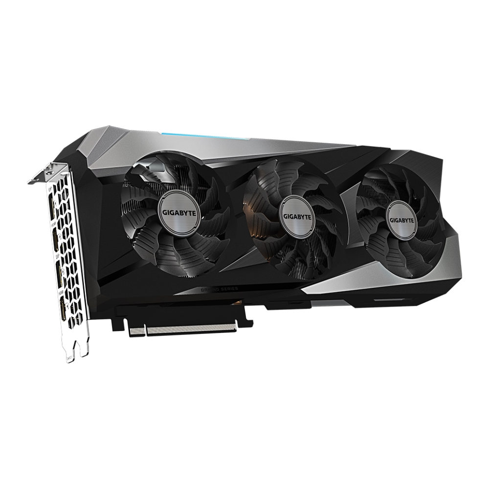 A large main feature product image of Gigabyte GeForce RTX 3070 Ti Gaming OC 8GB GDDR6X