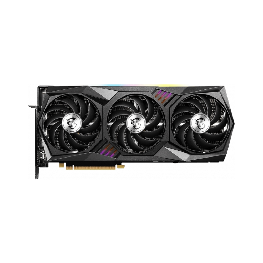 A large main feature product image of MSI GeForce RTX 3070 Ti Gaming X Trio 8GB GDDR6X