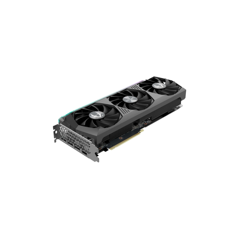 A large main feature product image of ZOTAC GAMING GeForce RTX 3070 Ti AMP Holo 8GB GDDR6X