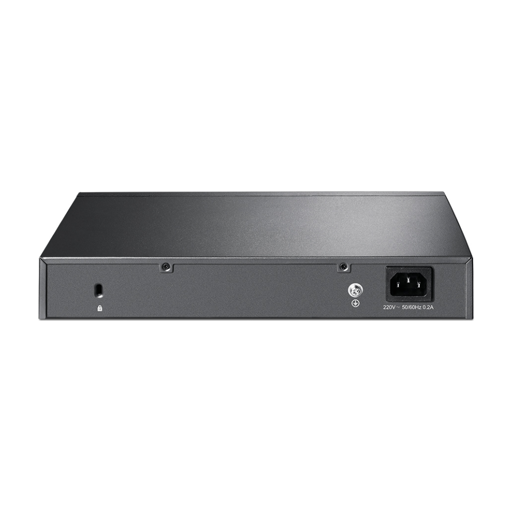 A large main feature product image of TP-LINK Jetstream 8 Port Gigabit L2+ Managed Switch w/ 2 SFP Slots