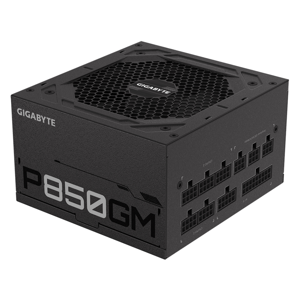 A large main feature product image of Gigabyte 850W Fully Modular 80PLUS Gold Power Supply