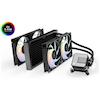 A product image of EK AIO 280 Elite D-RGB AIO Liquid CPU Cooler