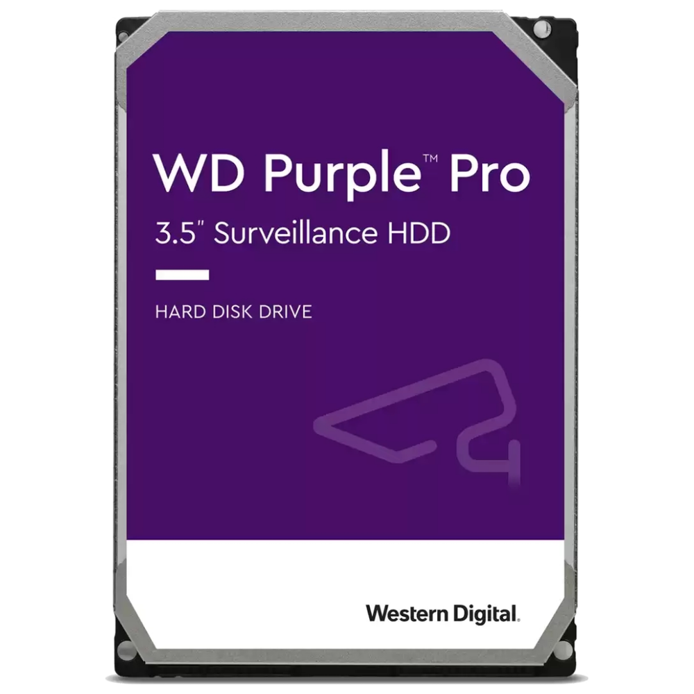 """A large main feature product image of WD Purple Pro WD141PURP 3.5"""" 14TB 256MB 7200rpm Surveillance HDD"""