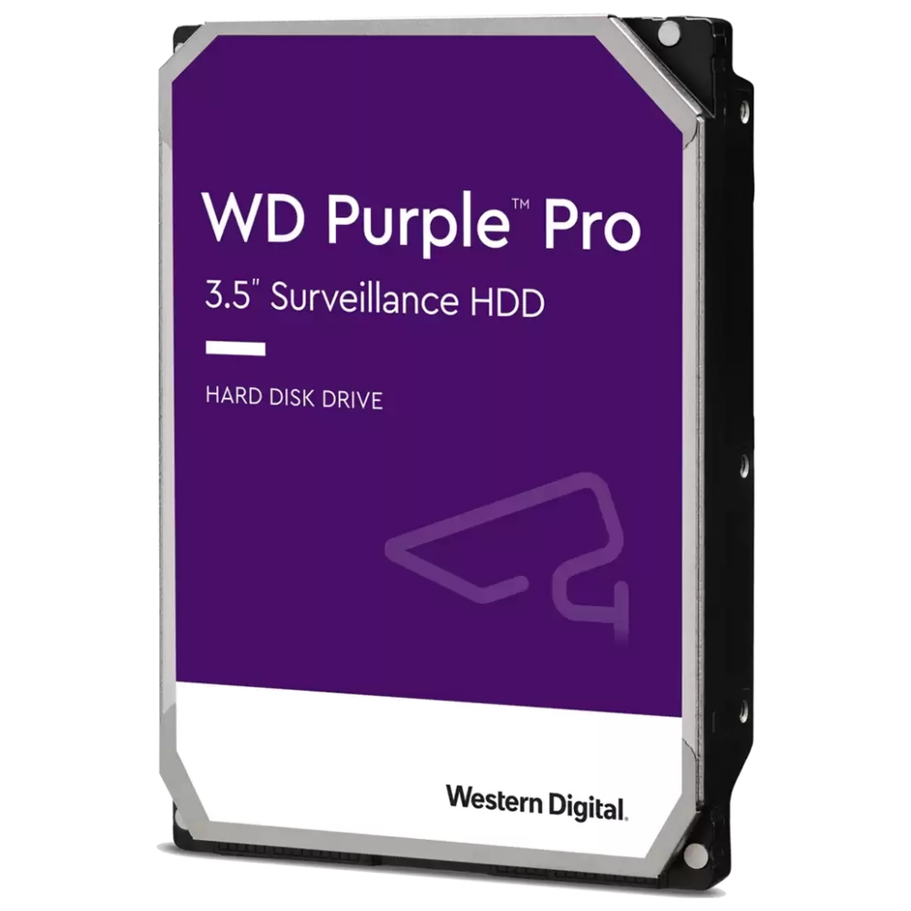 """A large main feature product image of WD Purple Pro WD121PURP 3.5"""" 12TB 256MB 7200rpm Surveillance HDD"""