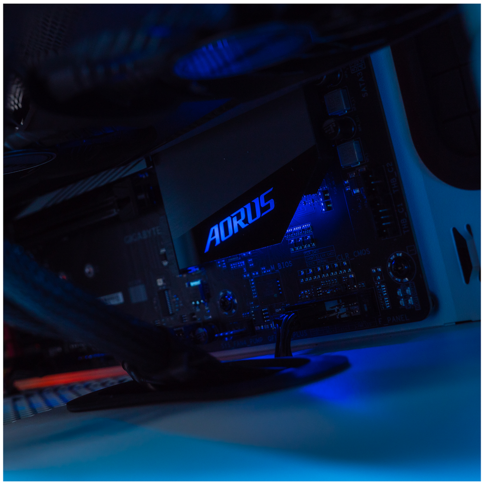 A large main feature product image of PLE Helix Prebuilt Gaming PC