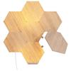 A product image of NANOLEAF Elements Wood Look Starter Pack - 7 Pack
