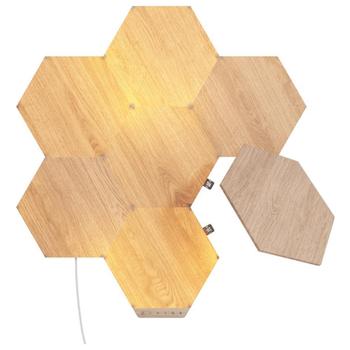 Product image of NANOLEAF Elements Wood Look Starter Pack - 7 Pack - Click for product page of NANOLEAF Elements Wood Look Starter Pack - 7 Pack