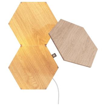 Product image of NANOLEAF Elements Wood Look Starter Pack - 3 Pack - Click for product page of NANOLEAF Elements Wood Look Starter Pack - 3 Pack