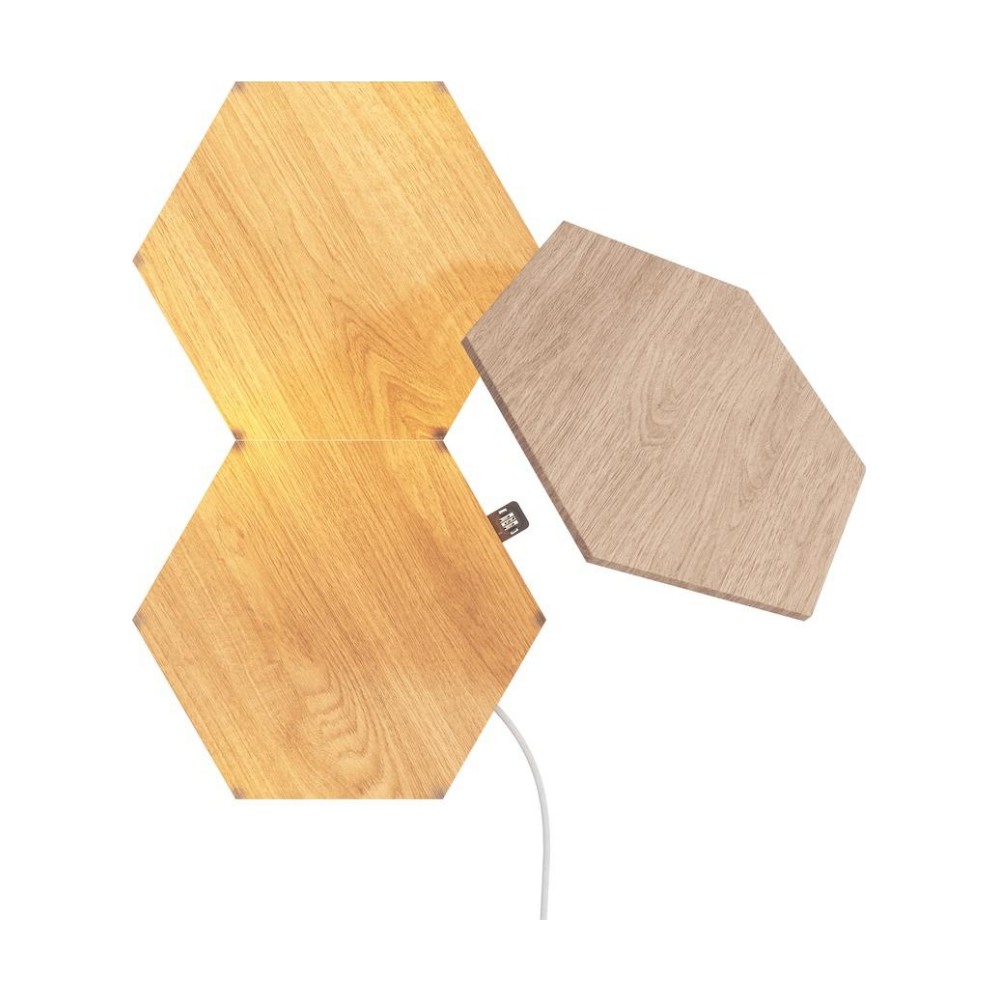 A large main feature product image of NANOLEAF Elements Wood Look Starter Pack - 3 Pack