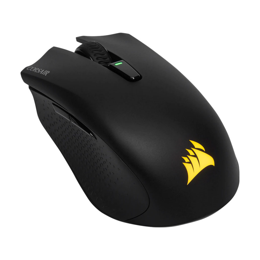 A large main feature product image of Corsair K57 & Harpoon Wireless RGB Gaming Bundle