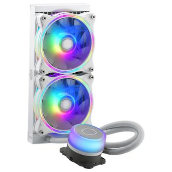 Product image of Cooler Master MasterLiquid ML240 Illusion White Addressable RGB AIO Liquid CPU Cooler - Click for product page of Cooler Master MasterLiquid ML240 Illusion White Addressable RGB AIO Liquid CPU Cooler